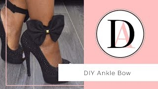 DIY Ankle Shoe Bow