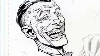Time Lapse Digital Inks Over Greg Capullos Joker With Commentary