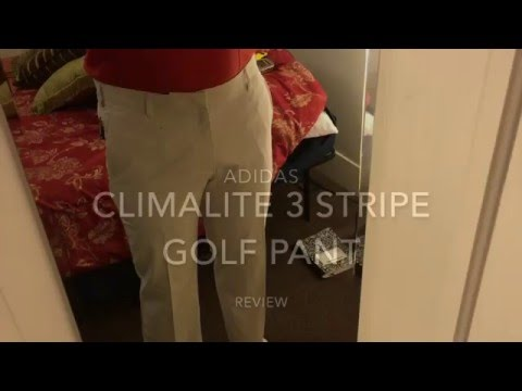 Adidas Climalite 3 Stripe Golf Pant Review