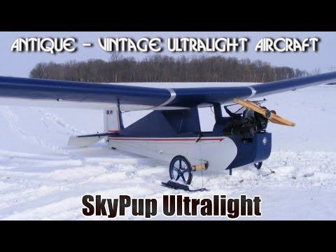 SkyPup antique ultralight, part 103 legal ultralight aircraft.