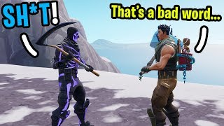 I met the MOST Innocent 9 year old kid in Random duos on Fortnite! (He made me STOP Swearing!)