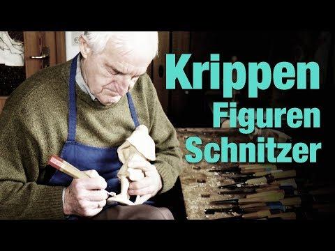 Kunst Figurenschnitzen - Ludwig Stöckbauer schnitzt seit 50 Jahren Krippenfiguren
