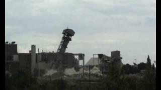 preview picture of video 'Sprengung Südzucker Groß-Gerau'