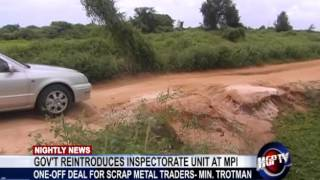 GOV'T REINTRODUCES INSPECTORATE UNIT AT MPI
