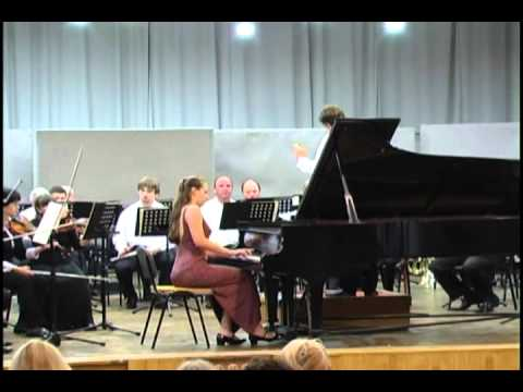 Brahms. Concert for piano No.1. Kseniia Polstiankina