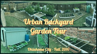 Urban Garden Tour - How We Grow Food For Our Family Of 6 In Our Backyard (Fall 2016) (Mobile App)