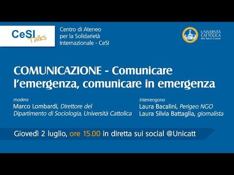 Comunicare l'emergenza, comunicare in emergenza