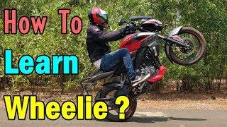 How To Learn Wheelie - Easy 3 Step Tutorial In Hindi