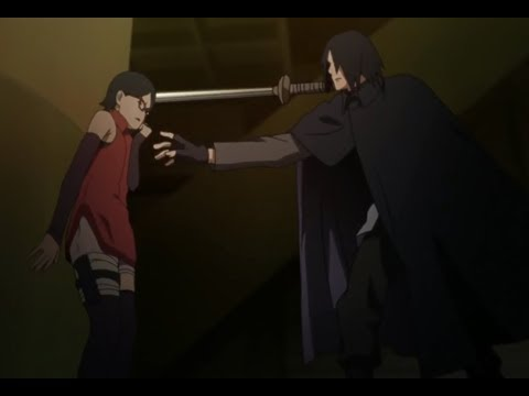 Sasuke Almost Kills Sarada - Team 7 vs. Shin Uchiha Full Fight [60 FPS]