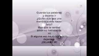 Dejame Ir - Paty Cantu (With Lyrics)