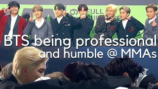 BTS Being Professional & Humble at the MMAs