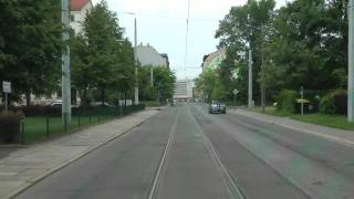 preview picture of video 'Straßenbahn Leipzig linia 9'