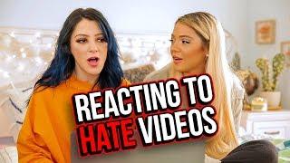 Reacting to Hate Videos &  Compilations (Niki & Gabi)