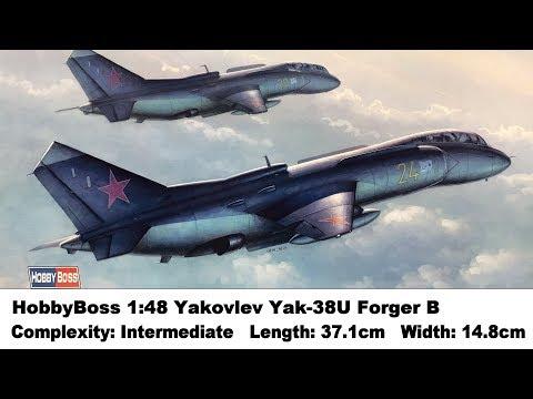 Maquette Avion Yak-38U Forger B Hobby Boss 1:48 Neuf
