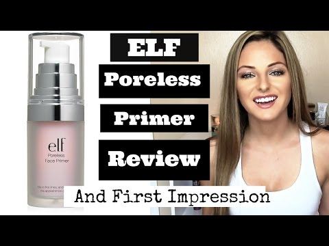 Elf Poreless Face Primer Review + First Impression for minimizing large pores