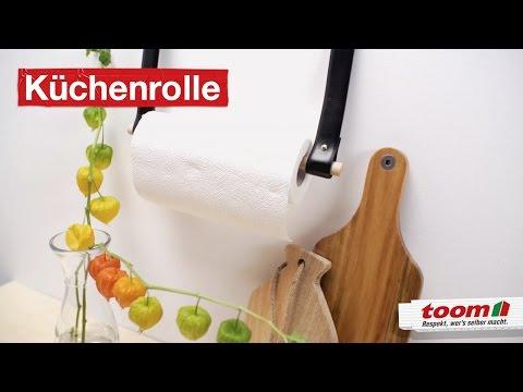 Küchenrollenhalter aus Leder | DIY by toom