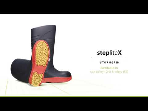 StepliteX StormGrip, non-metallic toe cap and midsole (S5), blue EN-US