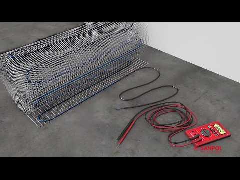 Теплый пол электрический кабельный youtube