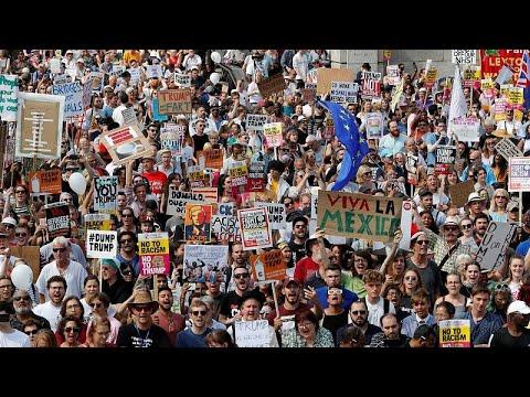 العرب اليوم - مظاهرة حاشدة في لندن ضدّ زيارة ترامب إلى بريطانيا
