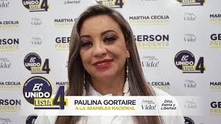 Paulina Gortaire, Candidata Asambleísta del Ecuador 2021.