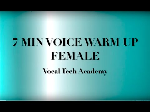 7 minutes daily voice warmup routine!