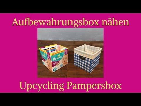 Aufbewahrungsbox nähen / Upcycling Pampersbox