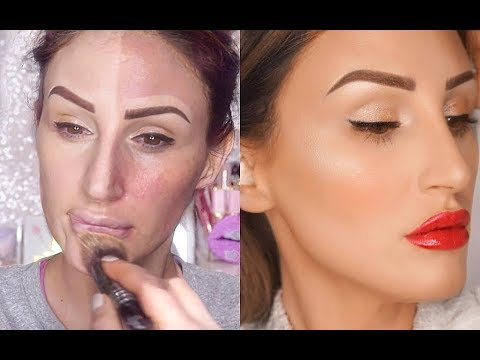 FULL DRUGSTORE MAKEUP VALENTINES DAY MAKEUP TUTORIAL FOR BEGINNERS