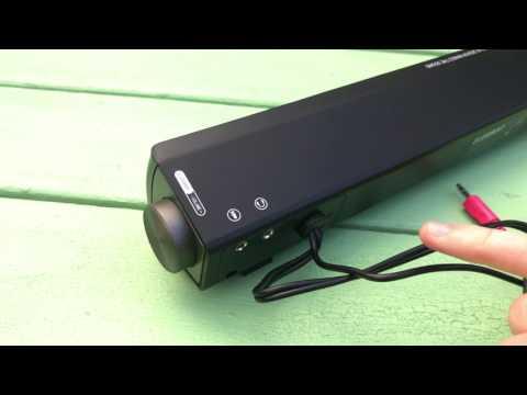 Cheap soundBar- ELEGIANT wired Stereo SoundBar USB Powered Speaker