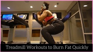Best Treadmill Workouts For Beginners | Burn Fat Quickly  + HIIT Training