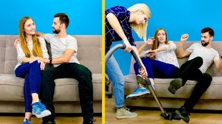 Growing Up With Siblings / 15 Life Hacks! Sibling Rivalry