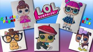 LOL Surprise DOLL characters Part 2 #ColoringPages #forKids #LearnColors and Draw with LOL  DOLLS