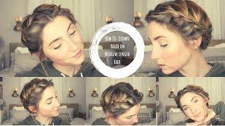 How To Do A Halo Braid On Medium Length Hair