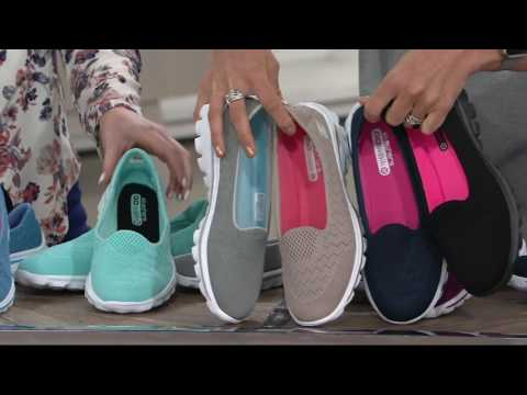 Skechers GOwalk 2 Mesh Lightweight Slip-on Shoes – Axis on QVC