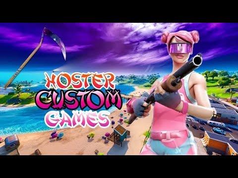 CUSTOM GAMES/Alle kan bli med/ NORSK FORTNITE STREAM/Treker mod