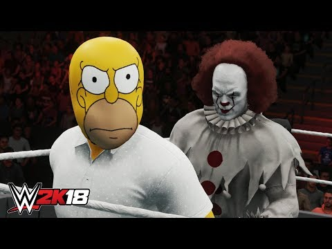 WWE 2K18 - CRAZY SURPRISE ROYAL RUMBLE! (TV & Movie Characters)