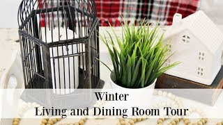Farmhouse Cottage Style Winter Living And Dining Room Tour
