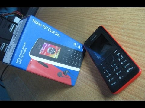 Unboxing & Review NOKIA 107 Dual SIM Card and Cheap Phone With MP3 Player