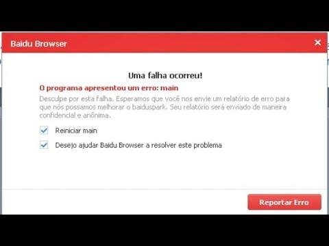Corrigindo o erro MAIN do Baidu Spark Browser - смотреть