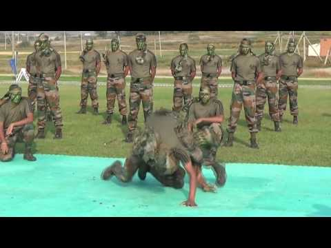 Indian Army displaying their skills in Un-Armed Combat during Indo-Russian Joint Military Exercise