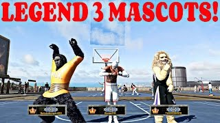 NBA 2k16 MyPark - LEGEND 3 MASCOTS GET BEAT BY ALL STAR 2's BACK TO BACK!