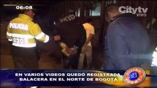 preview picture of video 'Citytv: En varios vídeos quedó registrada balacera en el norte de Bogotá'