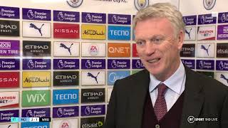 """""""I'm really proud of our players today"""" Hammers boss David Moyes takes positives from Man City loss"""