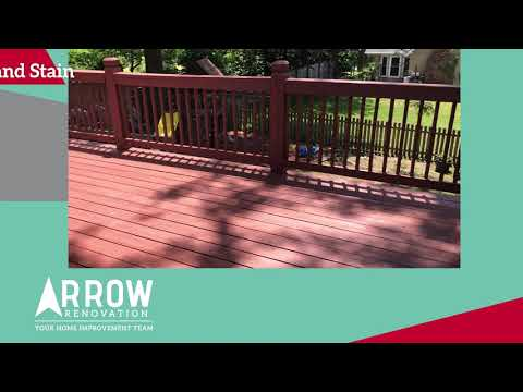 Deck in Lee's Summit, MO gets Re-Stained and New Stairs