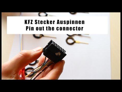 DIY Anleitung Anschlüsse tauschen / erneuern ISO Radio Stecker lösen Auspinnwerkzeug  - wire replace