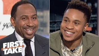 Rotimi talks Power season 6, NFL predictions and the greatest Giants player of all time   First Take