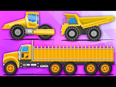 Giant Street Vehicle For Children | Car Cartoons For Babies by Kids Channel