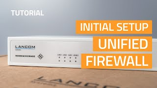 YouTube-Video Initial setup of a Unified Firewall