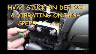 Nissan Sentra : Stuck On Defrost / Vibrating Heater Fan - Video Youtube