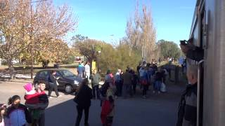 preview picture of video 'Llegada del Solidario a Santa Rosa (31-05-2014)'
