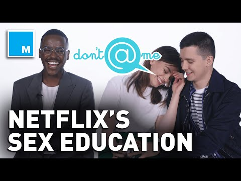 """The Cast of Sex Education plays """"Don't @ Me"""" 